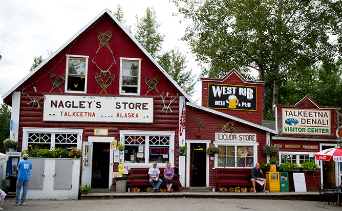 Nagley's Store is a 100-year old store in Historic Talkeetna
